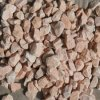 Natural Tumbled Chinese Pink Granite Gavel, Paving Pebbles