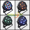 Ce, RoHS Slim LED Stage PAR Light Plastic Mega Adj 18PCS*3W RGB