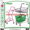 Wire Mesh Basket Shopping Cart/Simple Shopping Trolley