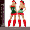 New Mrs Santa Claus Costume Red Green Christmas Dress (7251)