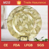Embossed Pattern Glass Clearance Wedding Charger Plates Blush