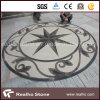 Round Star Design Marble Stone Water Jet Pattern/Medallion for Flooring