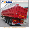 Tri Axle Side Tipper Dump Box Semi Trailer with Hyva Lifting for Sand Transport