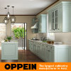 Oppein Modern Green Galley Luxury PVC Kitchen Cabinet (OP15-PVC03)