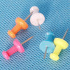 Coloured Plastic Push Pin Stationery (QX-P004) 10*24mm
