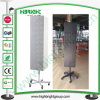Four Sides Metal Floor Standing Rotating Pegboard Rack