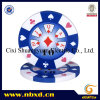 14G 3-Tone Clay Double Suited Customize Decal Poker Chip (SY-E17)