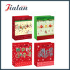 Fashion 128GSM Coated Paper Merry Christmas Carrier Gift Paper Bag