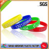 Colorful Fashion Bulk Silicone Bracelet with Debossed Ink Filled (TH-6280)