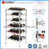 NSF Adjustable DIY Chrome Metal Wine Bottle Display Shelf Rack