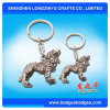 3D Lion Keychain Customized Antique Silver Keychain Ring