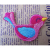 Wholesale Custom Fashion Birdie Logo Embroidery Patches Applique Garment Decoration