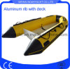 13FT Hypalon Inflatable Aluminum V Hull Fishing Boat