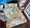 Europe Map Design Printed Polyester Duvet Cover Bedding Set