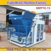Qmy10-15 Big Capacity Mobile Automatic Concrete Egg Laying Block Machine