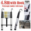 4.8m Single Telescopic Ladder with Hook