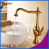 Fyeer Gold Plated Bathroom Vessel Faucet