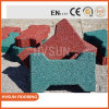 Red Color Outdoor Safety Kid Play Rubber Tile for Safety Playground Rubber Tiles