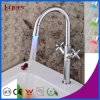 Fyeer China Double Cross Handle LED Kitchen Faucet (QH1894F)