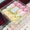Chinese Factory Clear Perspex Luxury 16 Description Rose Flower Packaging