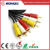 3 Color 3RCA Lotus Head Audio Video Cable