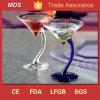 Cobalt Unique Shape Color Stem Martini Glass