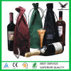 Custom Logo Printed Drawstring Velvet Wine Bag