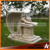 Egypt Rust Marble Angel Tombstone in Graveyard