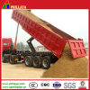 Rear Door Open Tri Axles 40cbm End Dumping Trailer