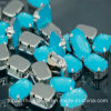 4 Holes Sewing Accessories Oppal Crystal Beads for Evening Dress (SW-Rectangle 10*14mm)