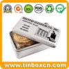 Rectangular Metal Biscuit Tins for Cookies Snack Food Packaging Box