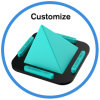 Soft Silicone Non-Slip Car Desk Stand Holder for Phone Tablet PC