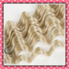 Factory Sale Brazilian Hair Weft Light Color Deep Wave 18inches