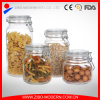 Clear Glass Candy Jar Set 4 Glass Cookie Jars Wholesale with Lid