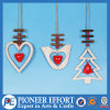 Heart Bird and Mini-Tree with Jingle Bell Design for Hanging Wall Decor