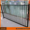 Powder Coated Flat Top Steel Fencing for Swimming Pool