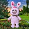 Popular Design 62cm Super Big Pig Pink Rabbit 3D Face Doll