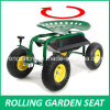 Rolling Garden Work Seat (Steerable with Pad)