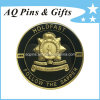 Metal Enamel Coin in Gold, Challenge Coin