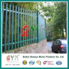 Green Powder Coated Steel Picket Palisade Sliding Gate