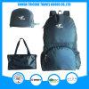 Hot Sale Dark Blue Foldable Bag Backpack Tote Bag Two Usage