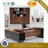 L Shape Steel Leg Big Size Wooden Executive Office Table (UL-MFC247)