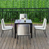 Outdoor Garden Hotel Leisure Dining PE Rattan Table and Chair Furniture