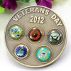 Custom Brass Metal Souvenir Coin for Veterans Day