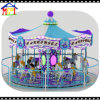 Purple and Blue Colors Great Painting Big Carousel Rides
