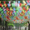 Custom Eco-Friendly Triangle Pennant Party Promotion Printed Flags