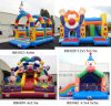 Funny Inflatable Clown Bouncer, PVC Tarpaulin Inflatable Slide