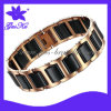 2013 Gus-Cmb-010 Hot Style Stainless Steel Jewelry with Black Ceramic Parts Decoration as Magnetic Healing for Body Health Care Men Design