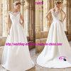 Beatiful Round Neckline Bridal Dress Wedding with V-Neckline Back