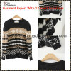 2015 Autumn&Winter New Fashion Ladies Round Neck Long Sleeve Geometric Contrast Color Pullover Knitted Garment Stock (SK413)